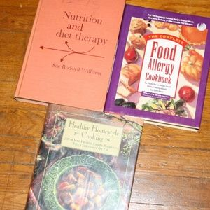 Healthy, Nutrition and allergy cook book lot vint